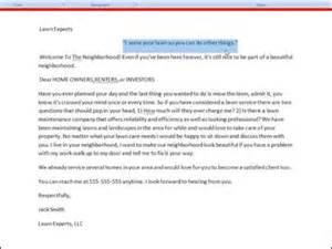 lawn care new homeowner marketing letter analyzed part 1