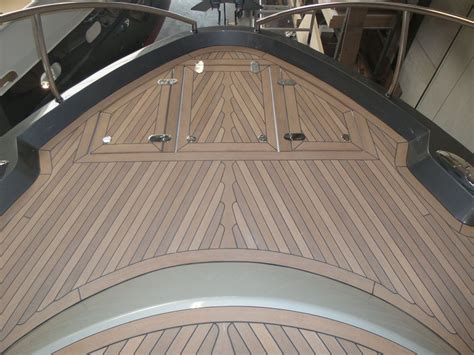 synthetic teak decking panel