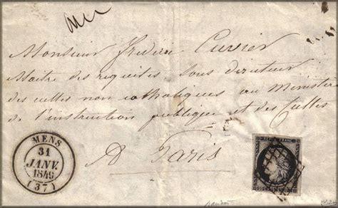 De Cachet De Lettre histoire postale de la du second empire vers 1860
