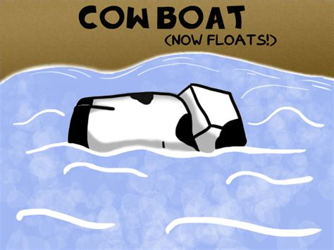 minecraft cow boat 029 cow boat by garakow on deviantart