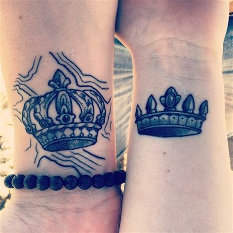 matching crown tattoos designs ideas and meaning