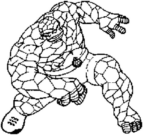 Thing Free Colouring Pages The Thing Coloring Pages