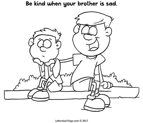 I Love You Brother Coloring Pages