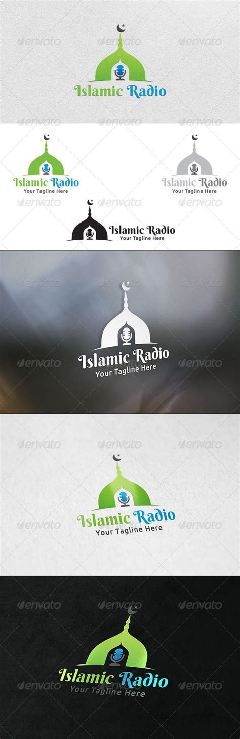 template layout koran islamic radio logo template logo templates and logo