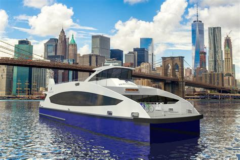 catamaran cruise nyc hornblower to operate citywide ferry service launching in