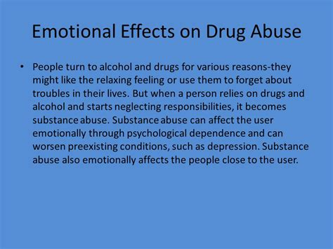 Detox Emotional Effects by Drugs Thesis Statement Ppt