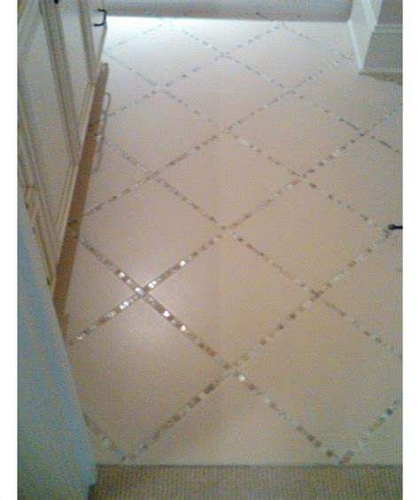 diy bathroom tile ideas glass tiles instead of grout in the bathroom tile floor