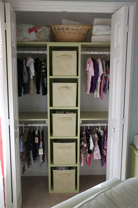 small bedroom closet organization ideas closet the husband built for the twins room ideas for