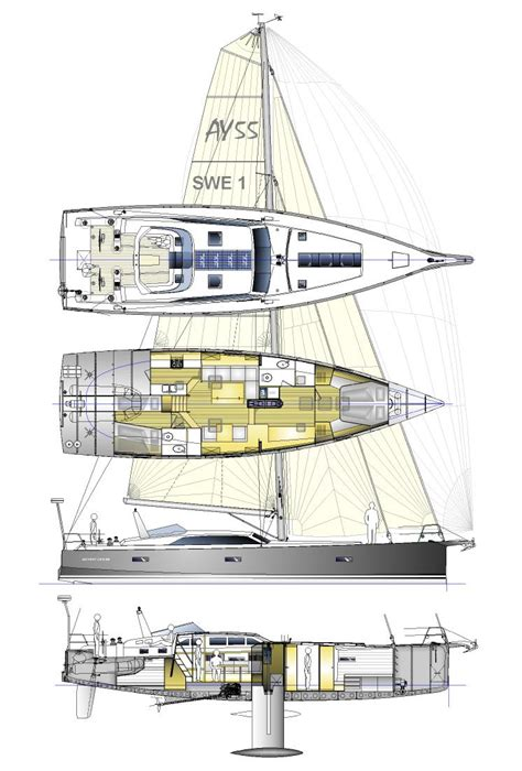 sailing yacht layout plans berckemeyer yacht design plans for modern and classic