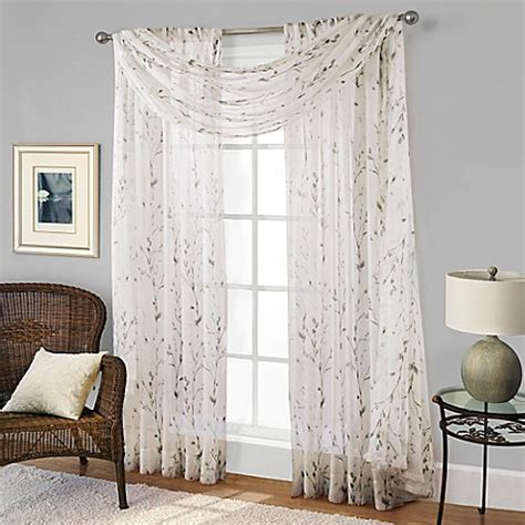 blue willow curtains willow print window scarf valance in blue bed bath beyond
