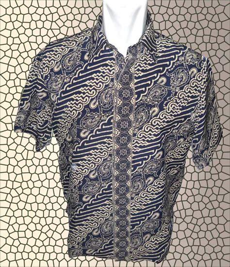 Kemeja Batik Pria Coklat Diagonal Kemeja Batik Coklat Cowok Kemeja baju batik baju batik pria safari batik dengan warna gelap dan diagonal gelap batik indonesia