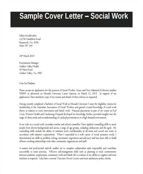 cover letter for working with youth cover letter exles social work hvac cover letter