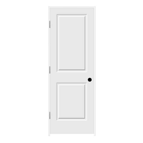 Jeld Wen Prehung Interior Doors Jeld Wen 28 In X 80 In C2020 Primed 2 Panel Solid Premium Composite Single Prehung