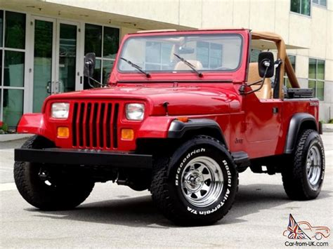 1987 Jeep Yj Value 1987 Jeep Wrangler Yj One Owner Low 6 Cylinder 5