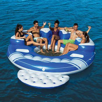 boat tubes at costco bestway coolerz blue caribbean 6 person floating island