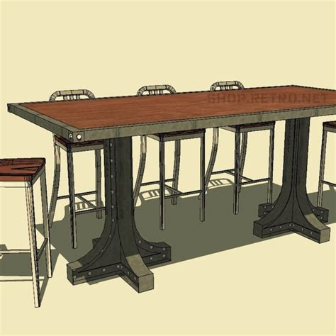 Vintage Bar Table Liberty Dining And Bar Height Table Vintage Industrial Furniture