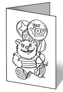 Get Well Card Coloring Template Coloring Pages