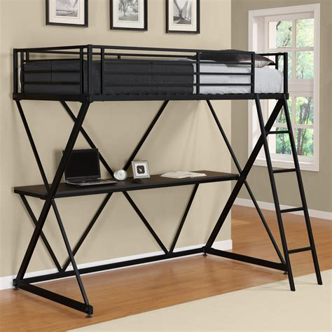 black loft bed dhp x loft bed black bunk beds loft beds at hayneedle