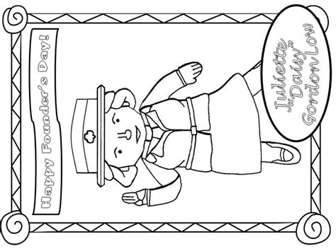 Juliette Low Coloring Page founders day juliette gordon low happy birthday coloring