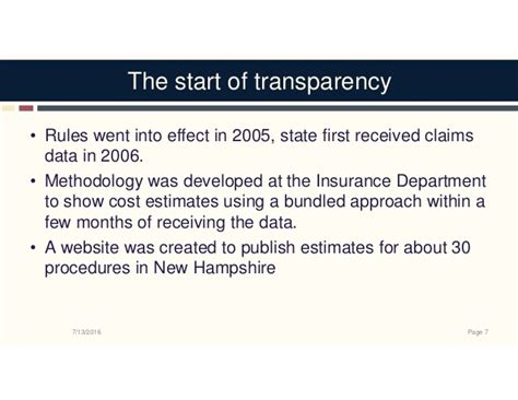 State Mba Webinar by Price Transparency Webinar 7 14