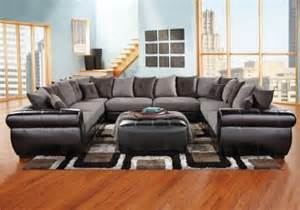 Rooms To Go Cc by Black U Shaped Sectional Living Room U
