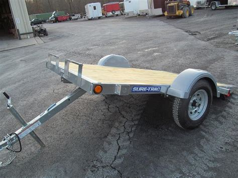 tilt bed trailers sure trac galvanized homeowner tilt bed utility trailer
