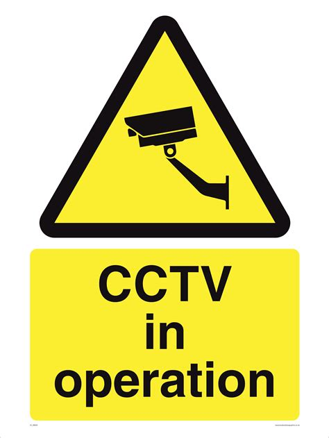 signs free cctv in operation signs cctv signs