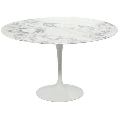 eero saarinen tulip table with carrara marble top by knoll
