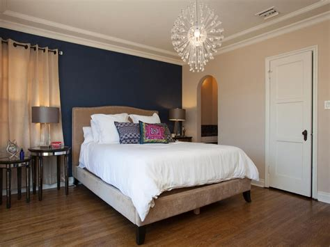 dark blue modern bedroom colors blue  accent walls