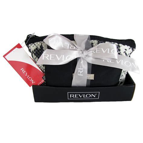 tolitery bag purse gift set revlon designer cosmetic tote