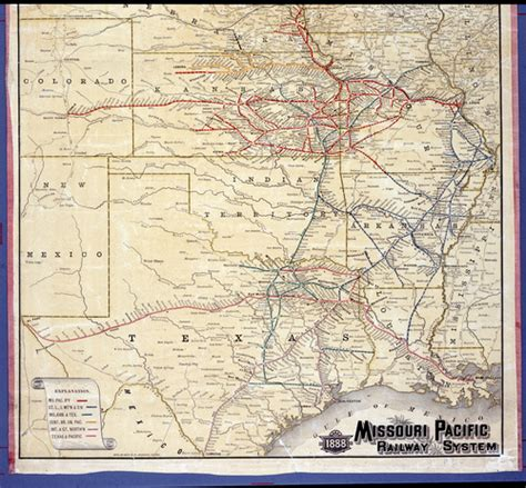 missouri pacific railroad map 1888 missouri pacific railway system map kansas memory