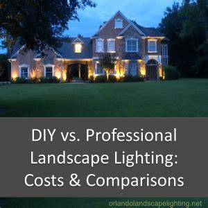 diy landscape lighting diy vs professional landscape lighting installation