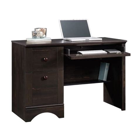 bowery hill computer desk bowery hill computer desk in antique black bh 657454