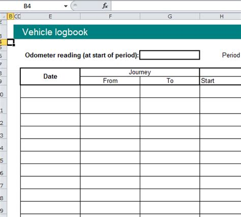 rental vehicle log book template for excel excel templates vehicle log book format excel spreadsheet
