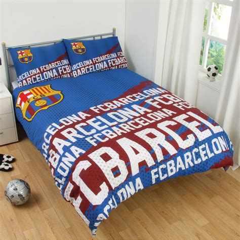 fc barcelona bedding fc barcelona impact double duvet cover and pillowcase set kids bedding free p p ebay