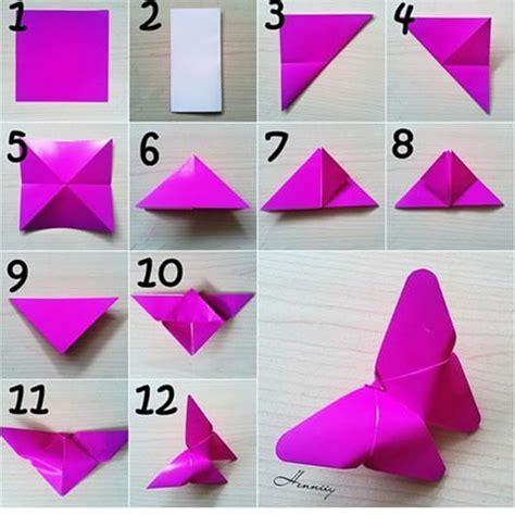 cara membuat origami kupu kupu 3d tutorial origami kupu2