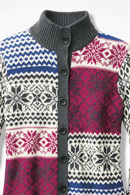 Patchwork Fair - patchwork fair isle cardigan coldwater creek