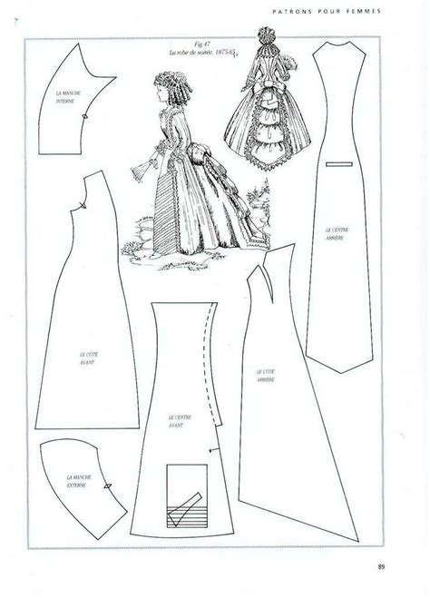 clothes pattern in spanish 220 best ag patterns for doll clothes images on pinterest