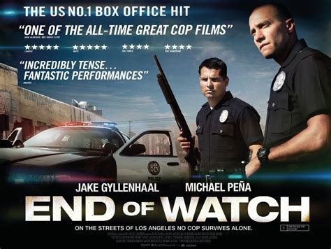 end of watch end of watch uk quad poster