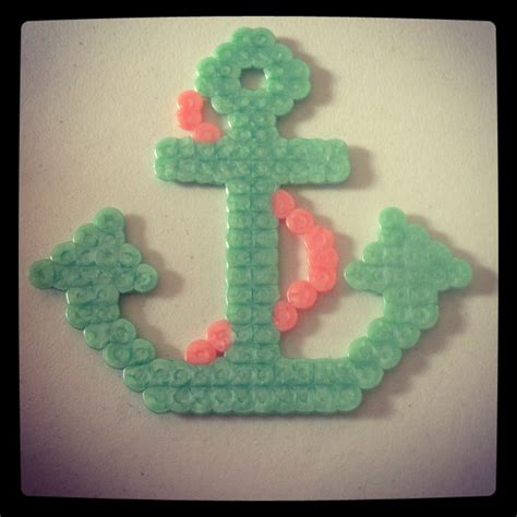 easy perler bead ideas beautiful anchor made from perler easy and
