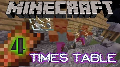 4 Times Table Song by Four Times Table Song Country Roads Cover Minecraft