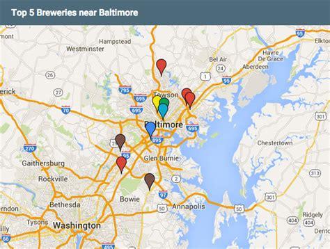 maryland breweries map top 5 breweries near baltimore hirschfeld
