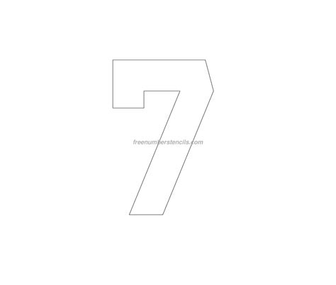 printable jersey number stencils free jersey printable 7 number stencil