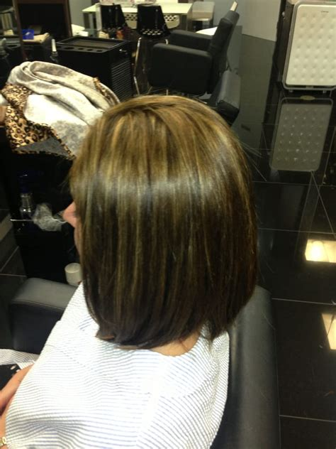 how to blow dry a bob hair cut quot color highlight long aline bob haircut and blow dry
