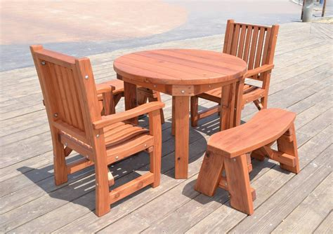 patio tables built to last decades forever redwood