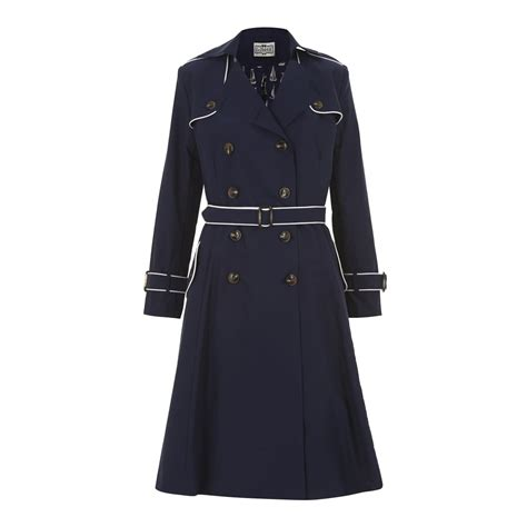 swing trench coat collectif vintage marlene maritime swing trench coat