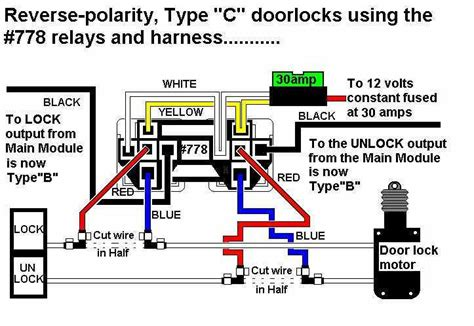778 relay for type c door locks reverse polarity relays