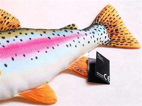 Fish Pillow by Gaby Rainbow Trout Fish Pillow Glasgow Angling Centre