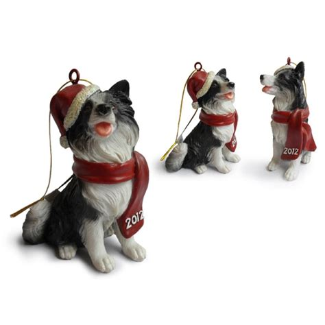 border collie hanging christmas tree ornaments christmas