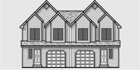Duplex Townhouse Plans duplex house plans townhouse plans mirror image house d 458